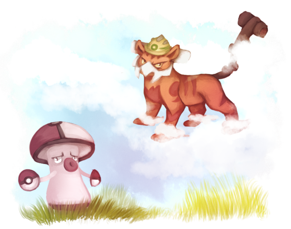 Landorus-T and Amoonguss art by LifeisDANK