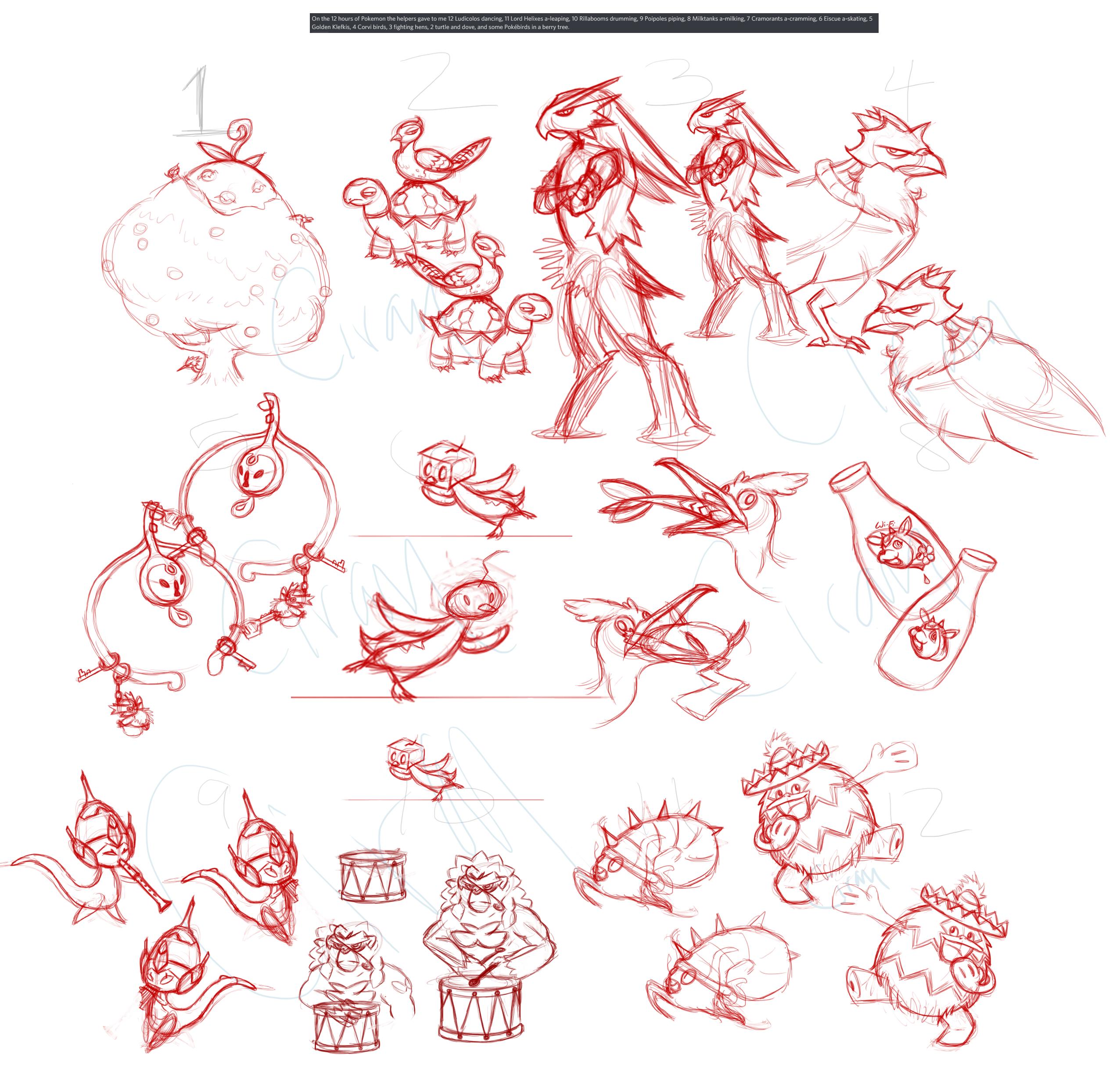12DaysofPokemon_Dec2020-sketches.png