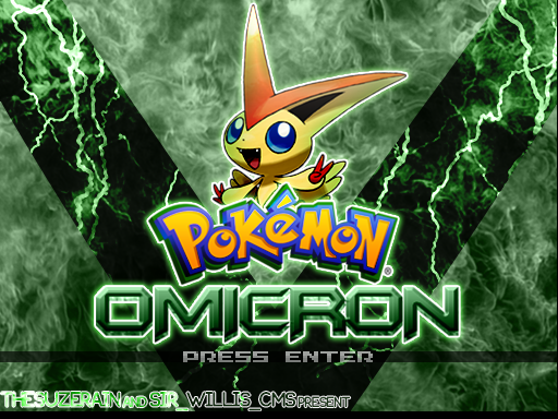 Title screen, featuring the Victory Pokemon, Victini.
