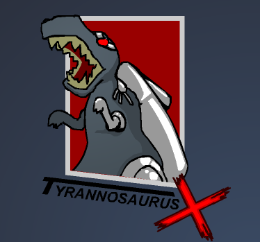 tyrannosaurus x from robot dinosaurs that shoot beams when they roar.png