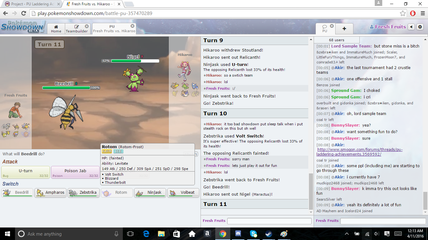 Project - PU Laddering Achievements   Smogon Forums