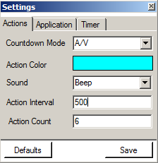 Timer Settings Window