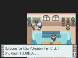 Welcome to the Pokémon Fan Club! Oh, your ILLUMISE...